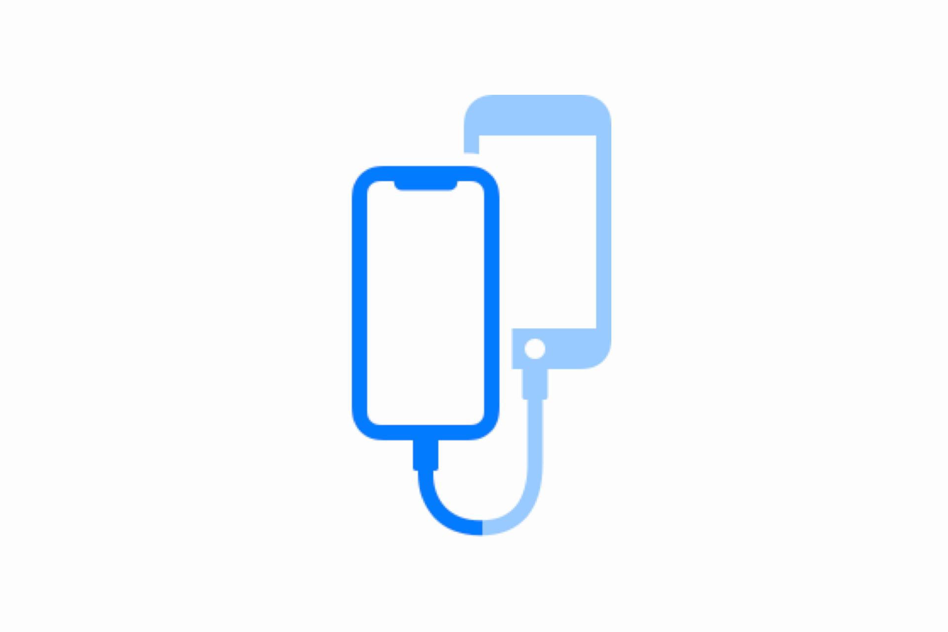 iOS 13: vezetékes átvitel két iPhone között